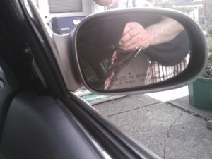 Side Mirror - Cracked Glass